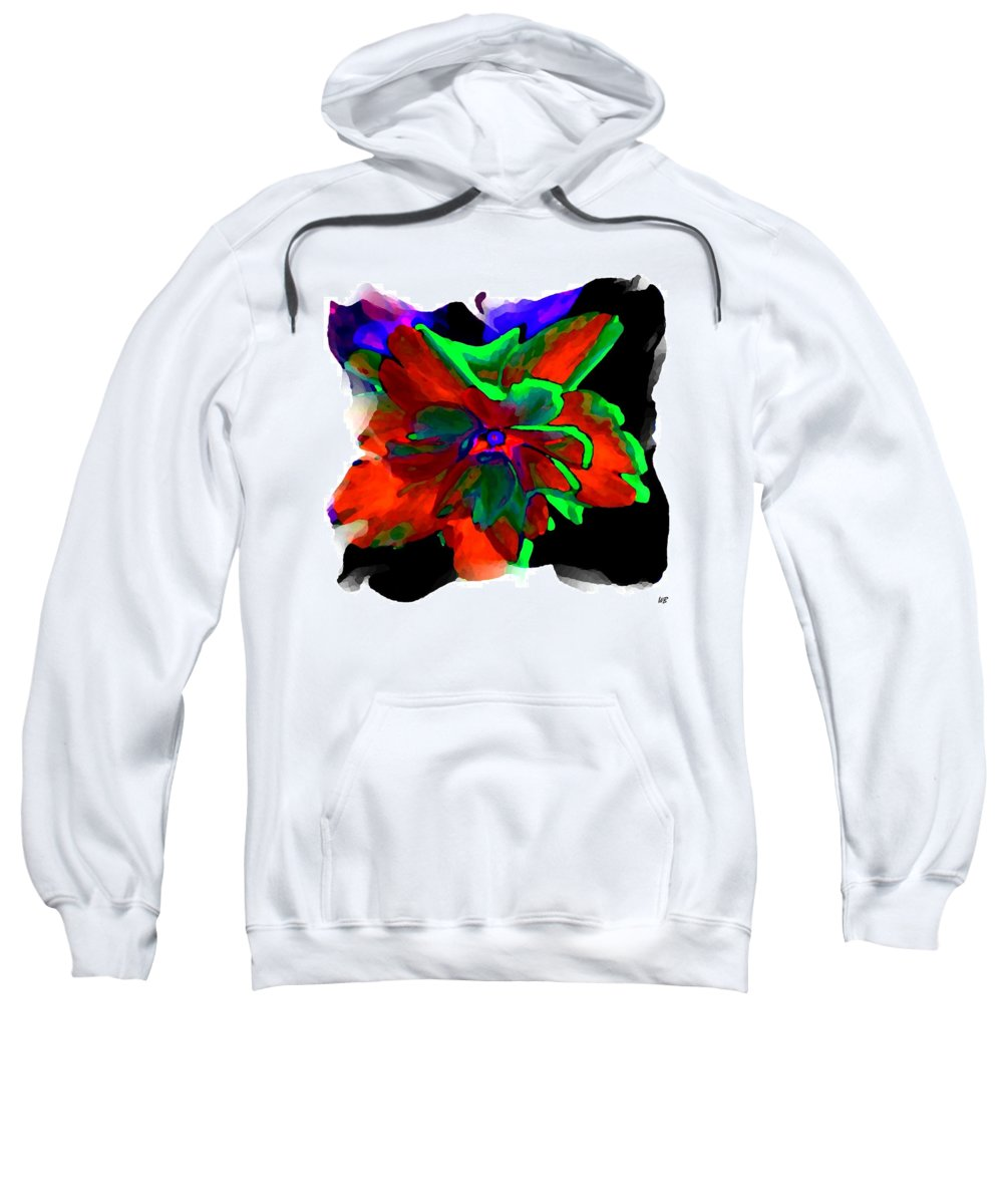 Abstract Sweatshirt featuring the digital art Abstract Elegance by Will Borden