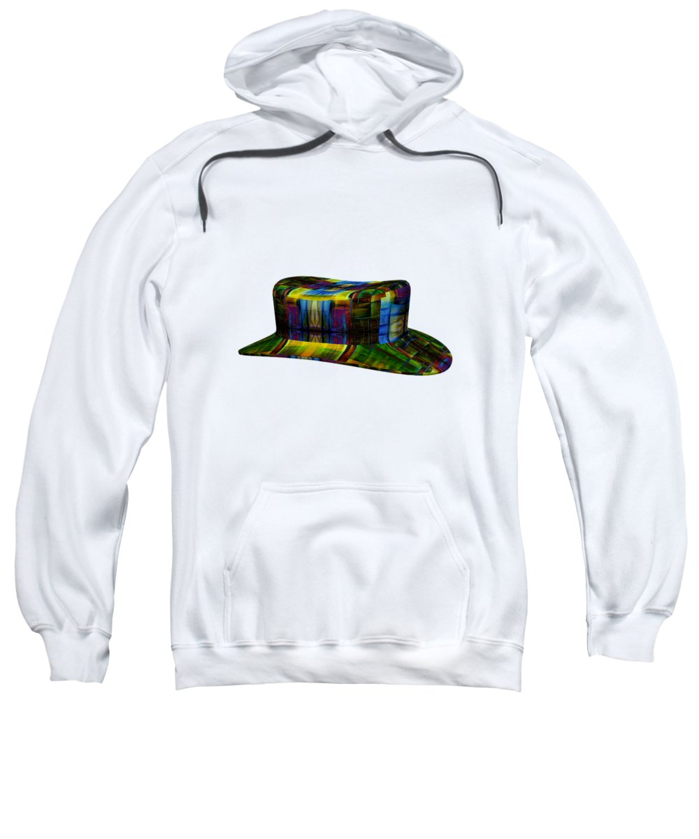 Abstract Sweatshirt featuring the digital art Abstract Hat For All by Amit Kinkar