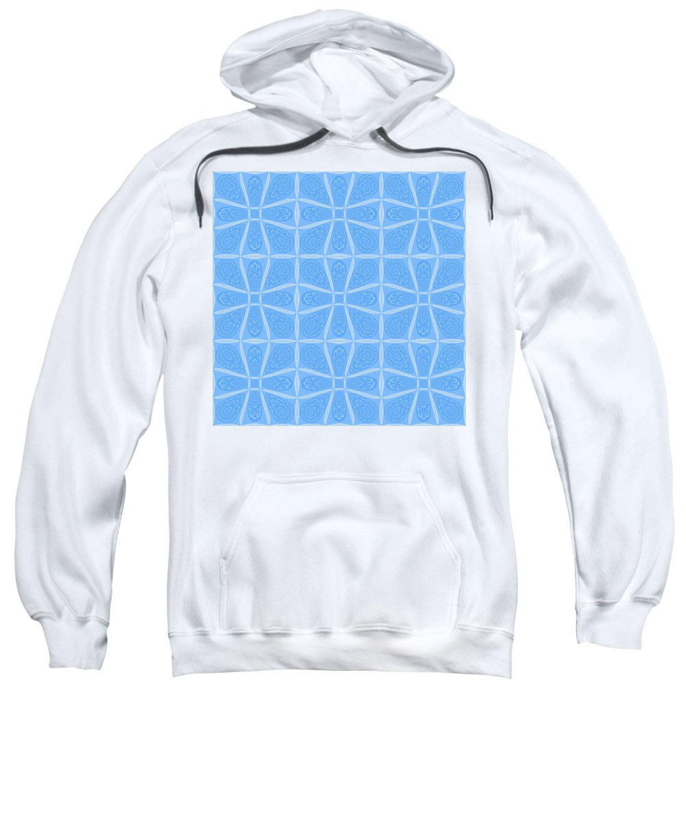 Faa Sweatshirt featuring the photograph Abstract In Blue by Connie Mitchell