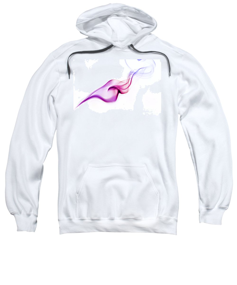 Purple Sweatshirt featuring the photograph Abstract Smoke by Yedidya yos mizrachi