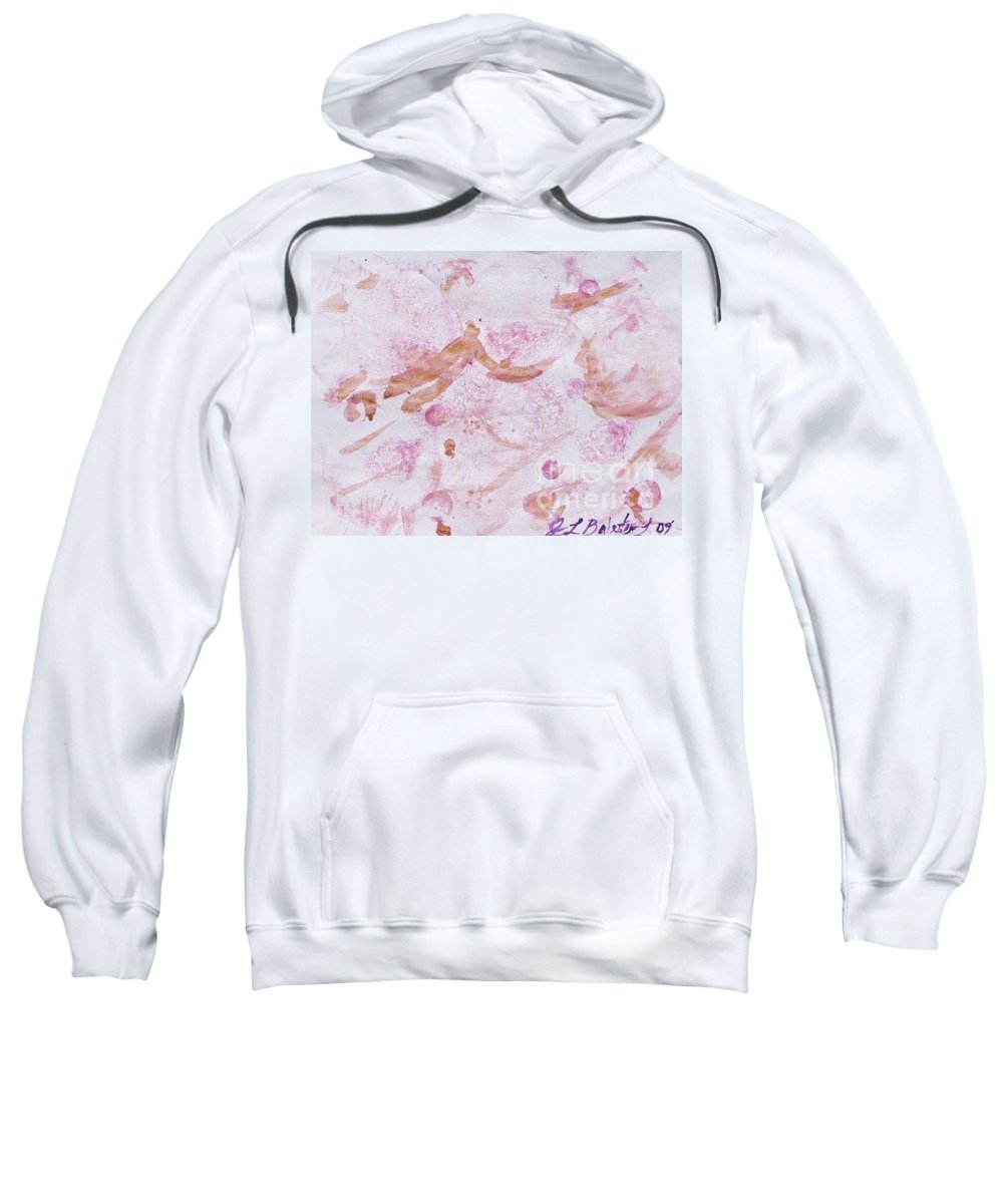 Organic Sweatshirt featuring the painting Abstract- Vegetable Beet Print by Jamey Balester