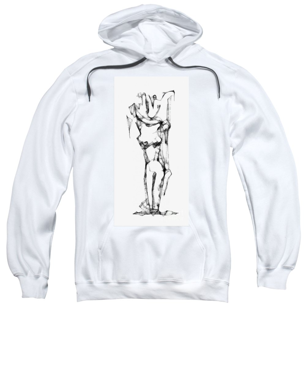 Abstraction Sweatshirt featuring the digital art Abstraction 1227 - Marucii by Marek Lutek