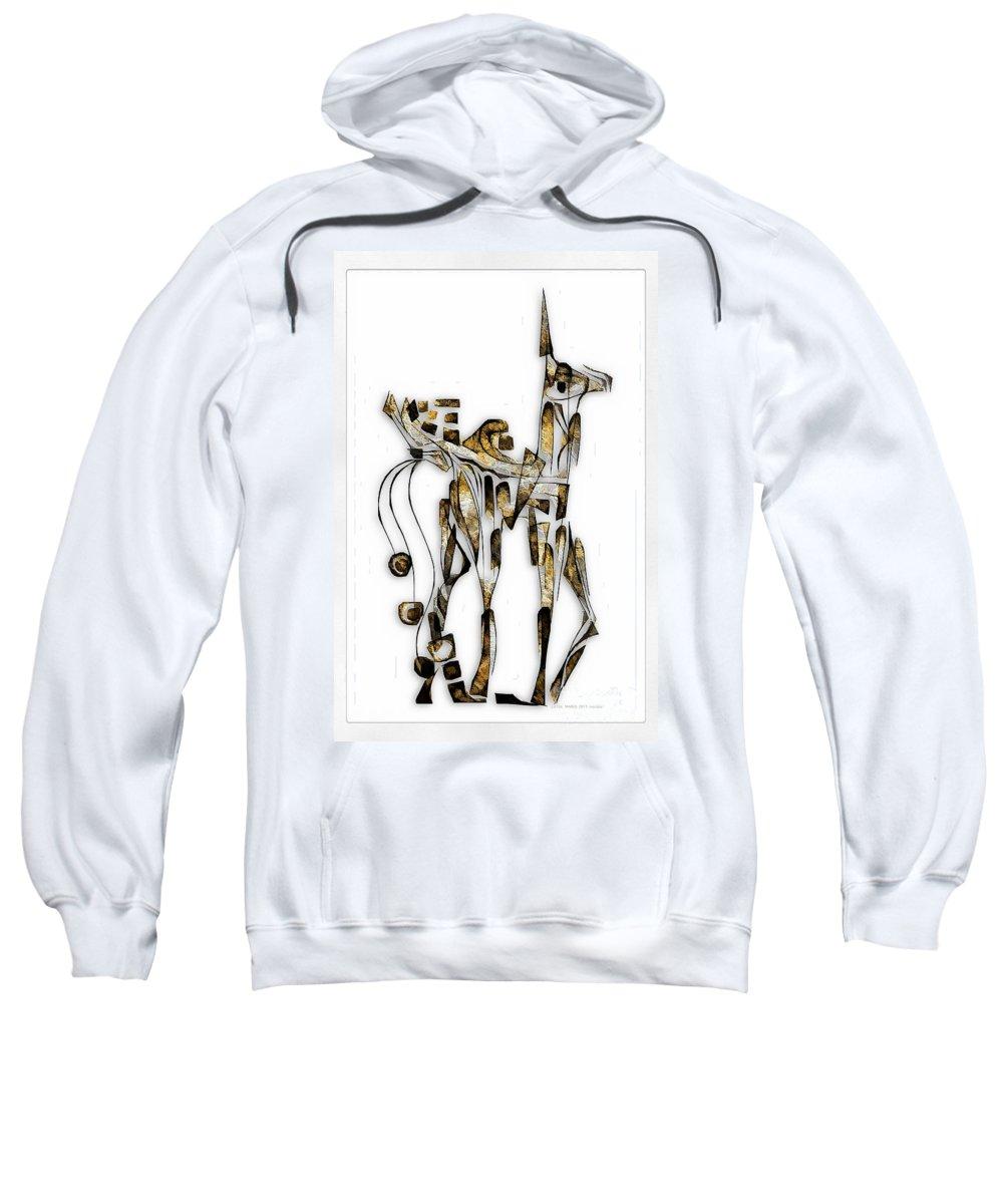 Abstraction Sweatshirt featuring the digital art Abstraction 3092 by Marek Lutek
