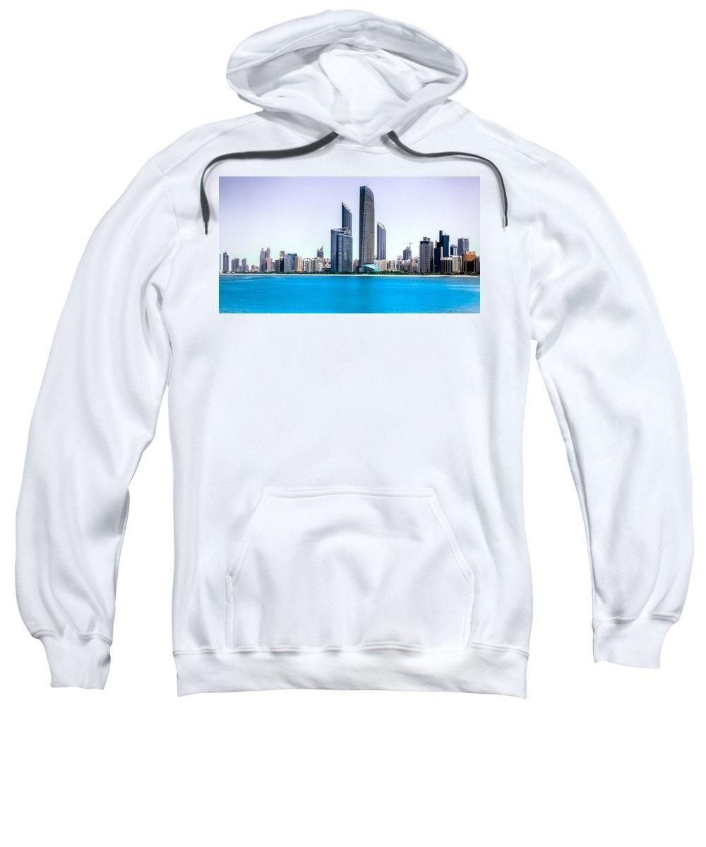 Corniche Sweatshirt featuring the photograph Abu Dhabi Corniche by Nadir Khan