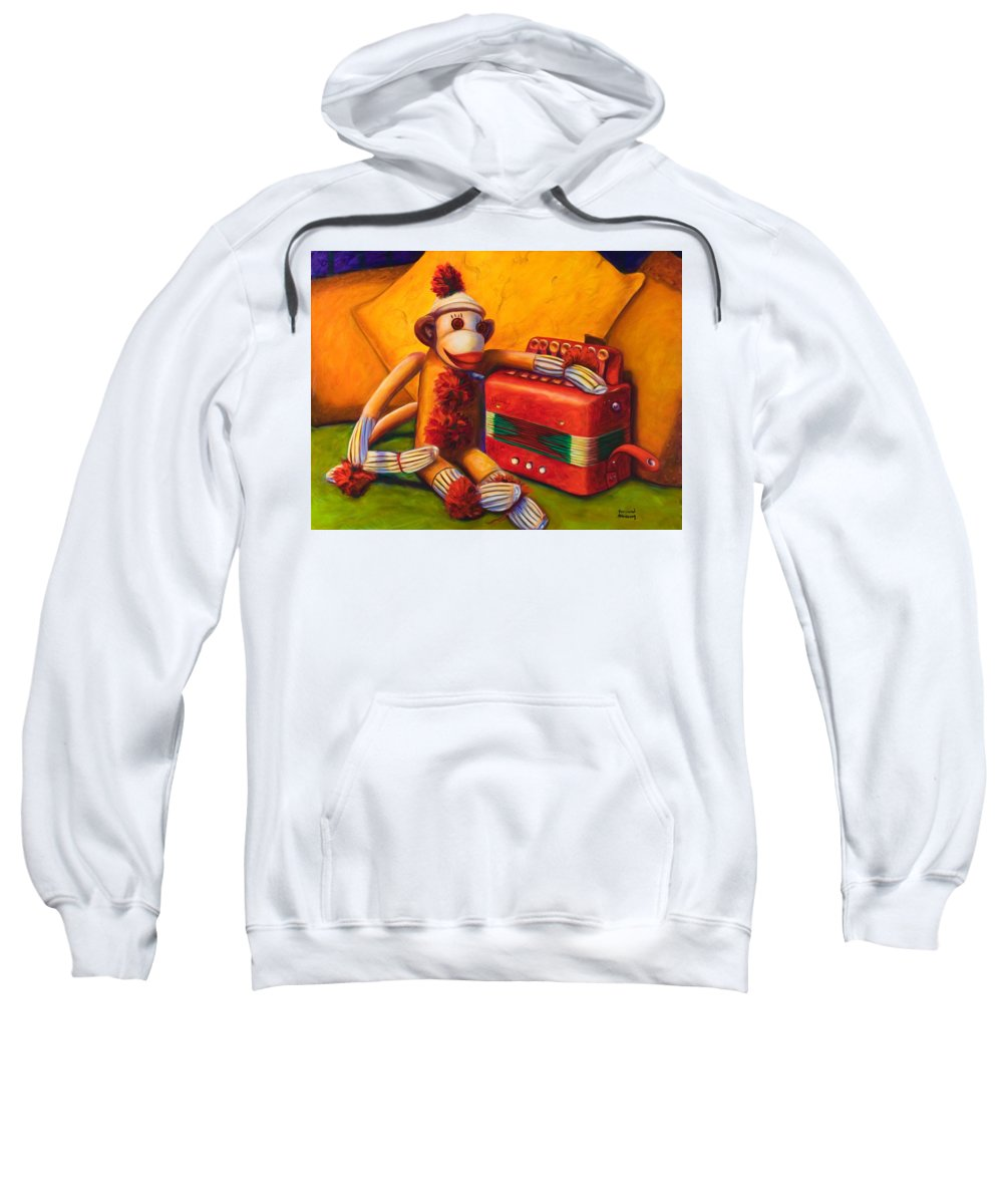 Children Sweatshirt featuring the painting Accordion by Shannon Grissom