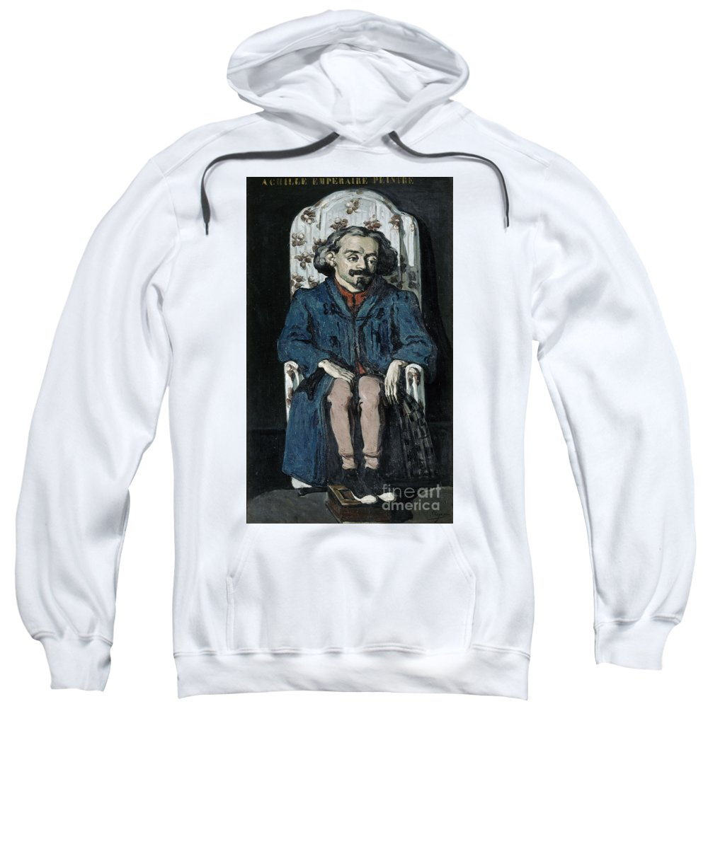 Cezanne Sweatshirt featuring the painting Achille Emperaire by Cezanne