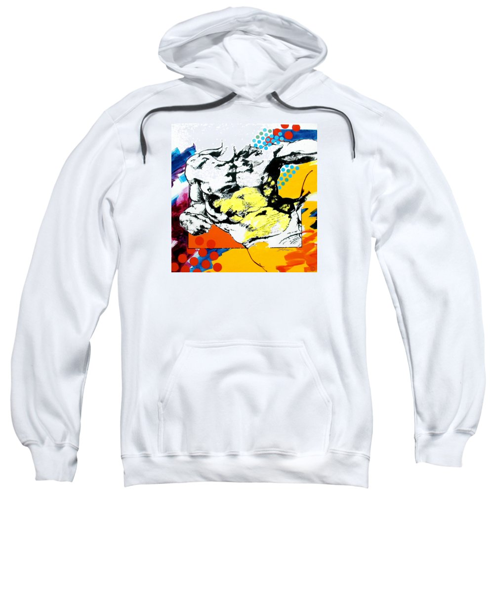 Pop Sweatshirt featuring the painting Adam by Jean Pierre Rousselet