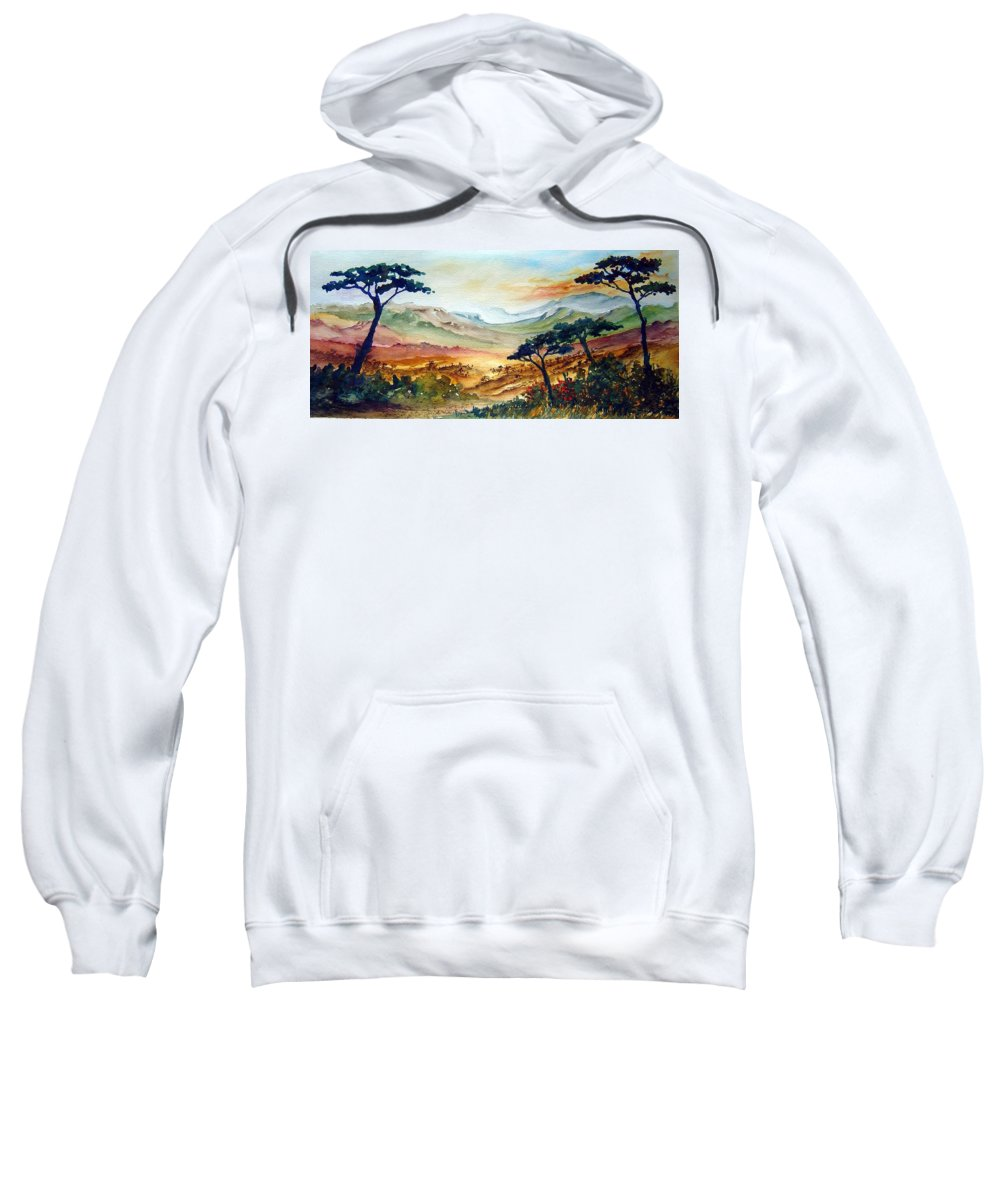Africa Sweatshirt featuring the painting Africa by Joanne Smoley