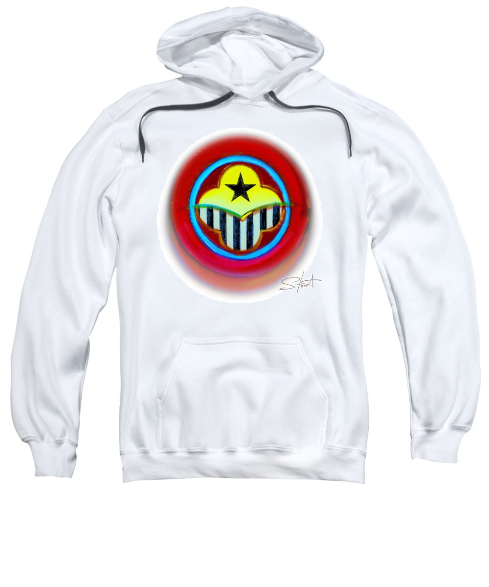 African Sweatshirt featuring the painting African American Button by Charles Stuart