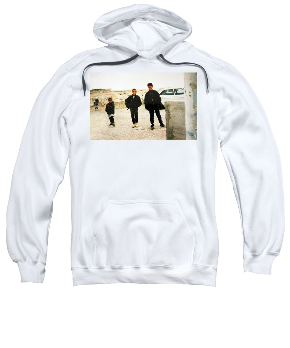 Kids Sweatshirt featuring the photograph After School by Munir Alawi