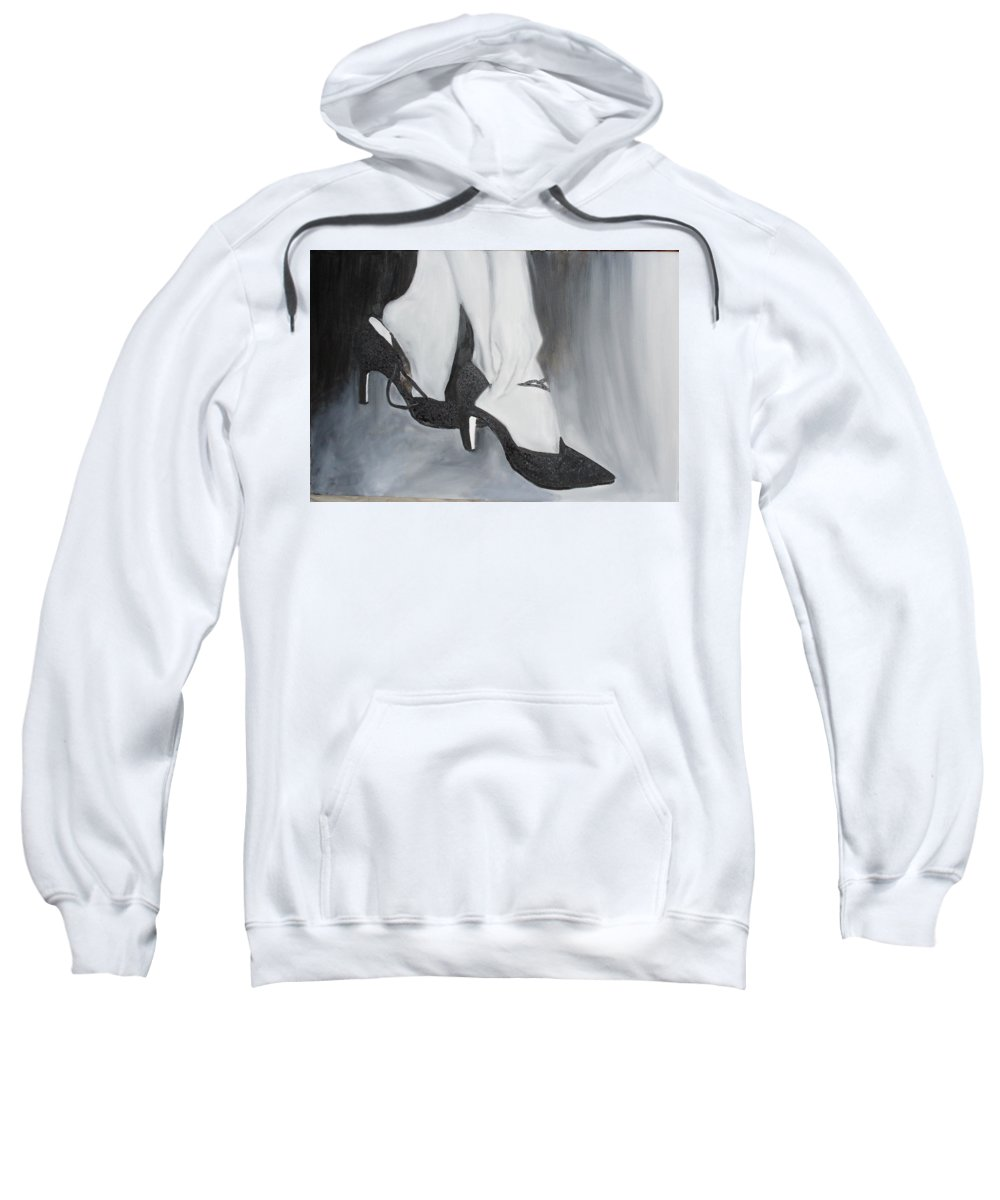 Dance Sweatshirt featuring the painting After The Dance by Keith Thue