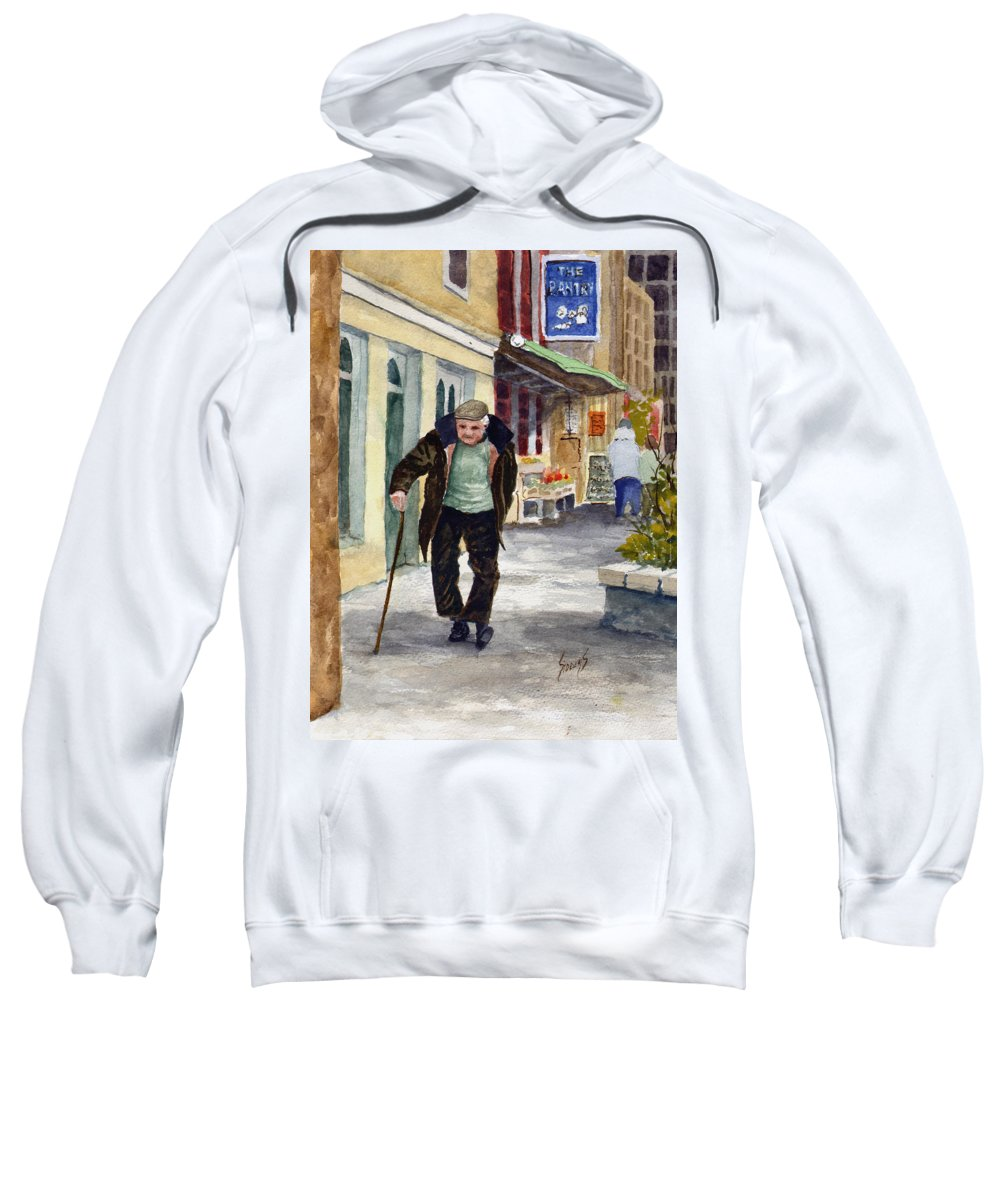 Street Sweatshirt featuring the painting Afternoon Walk by Sam Sidders