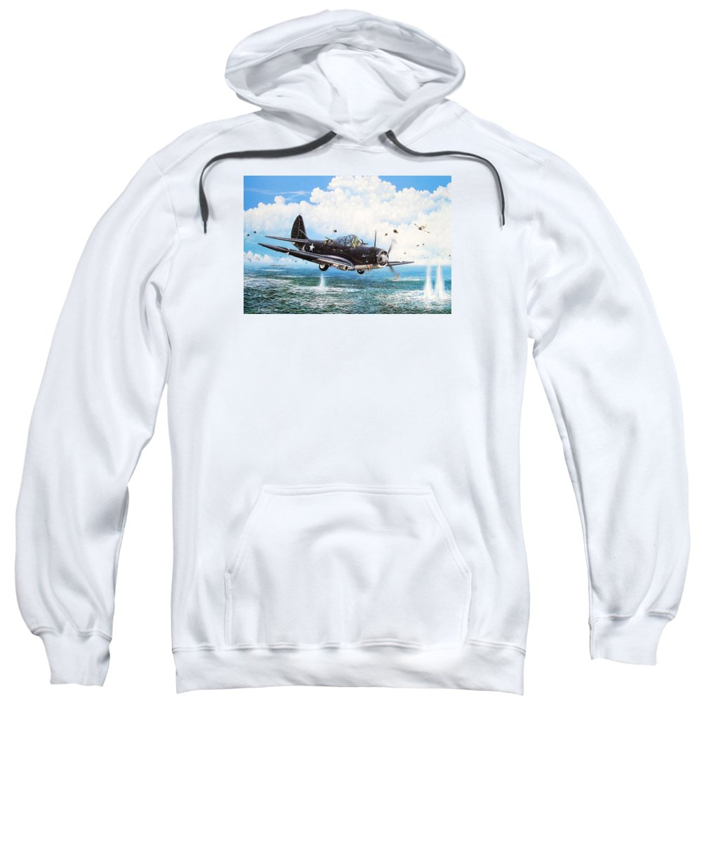 Military Sweatshirt featuring the painting Against The Odds by Marc Stewart