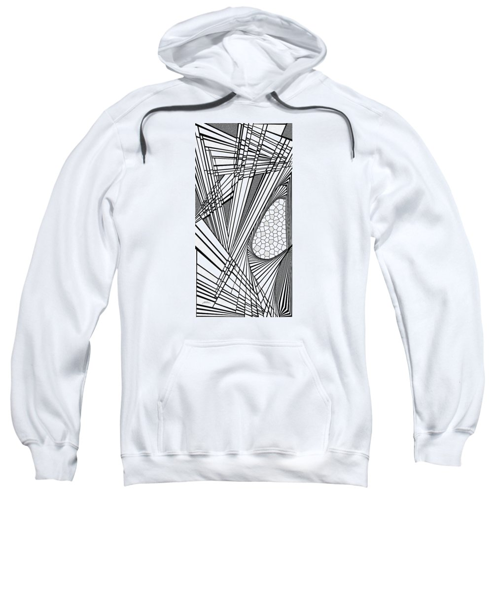 Dynamic Black And White Sweatshirt featuring the painting Ah Well by Douglas Christian Larsen