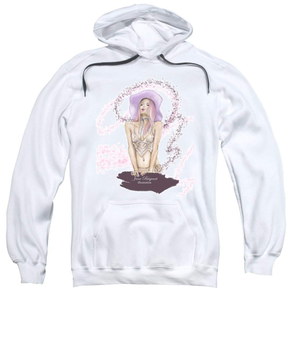 Watercolor Sweatshirt featuring the painting Air Kiss by Jane Sevtunova