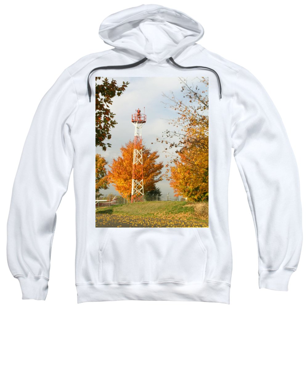 Airport Sweatshirt featuring the photograph Airport Tower by Douglas Barnett