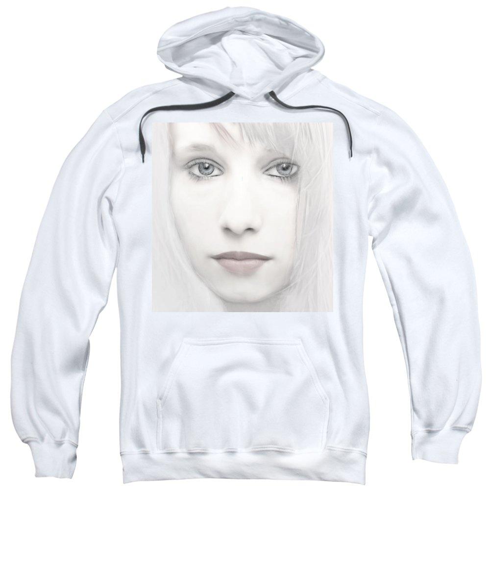 Woman Sweatshirt featuring the photograph Alabaster-face by Joachim G Pinkawa