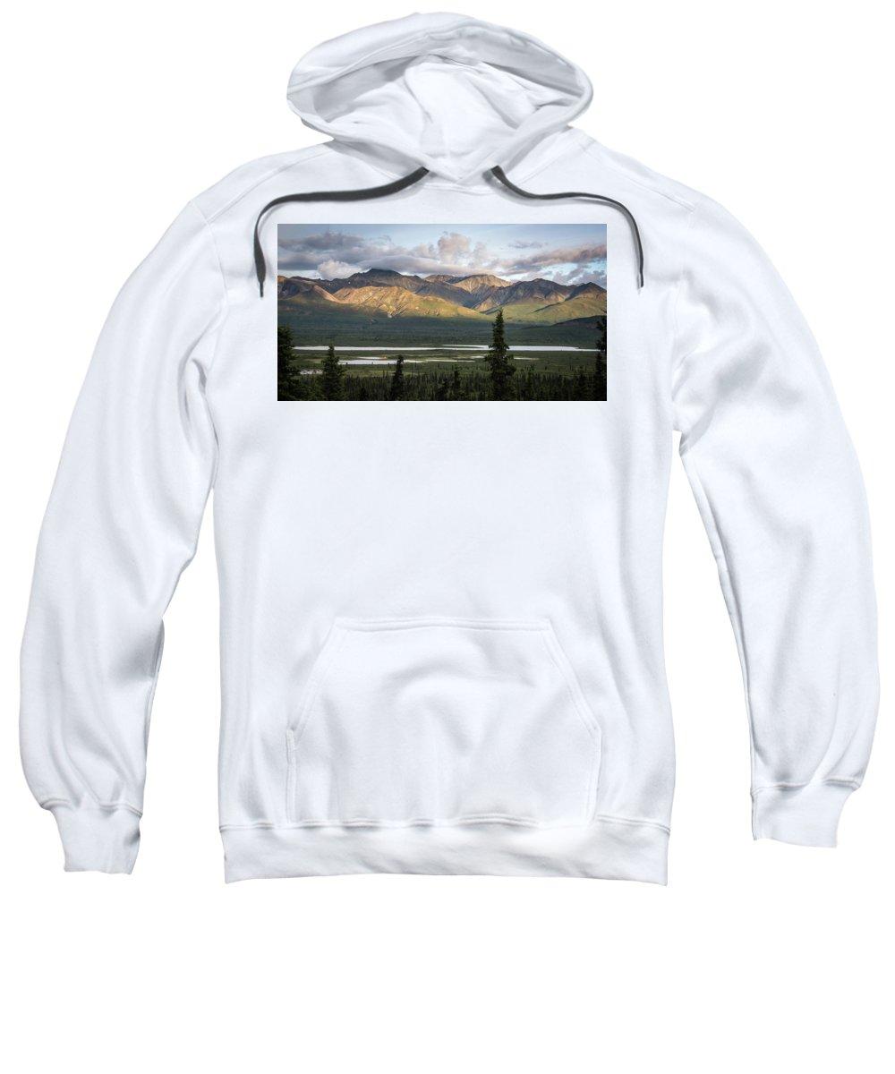 Camper Sweatshirt featuring the photograph Alaskan Glacial Valley by Travis Elder