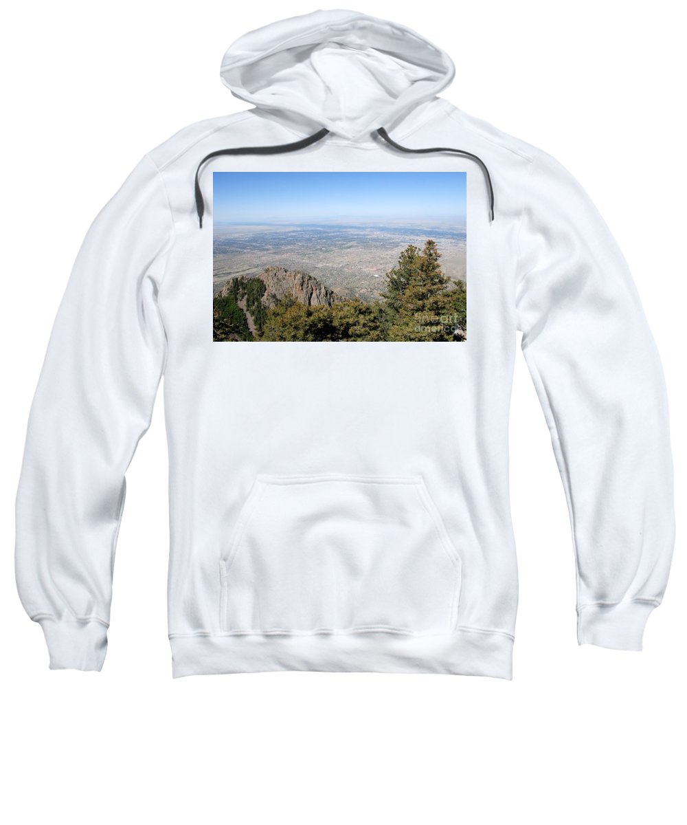 Albuquerque Sweatshirt featuring the photograph Albuquerque And The Rio Grande by David Lee Thompson