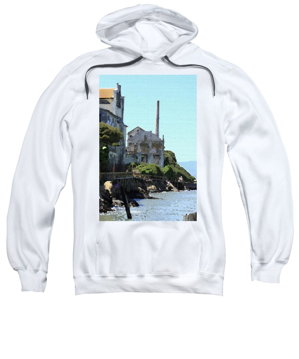 Alcatraz Sweatshirt featuring the photograph Alcatraz Island - Palette Knife by Lou Ford