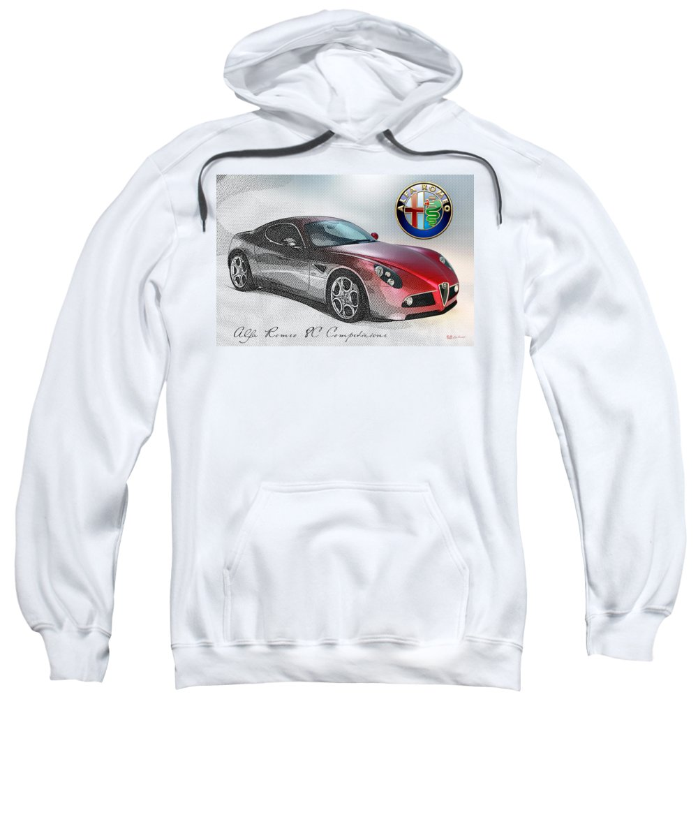 Wheels Of Fortune By Serge Averbukh Sweatshirt featuring the photograph Alfa Romeo 8C Competizione by Serge Averbukh