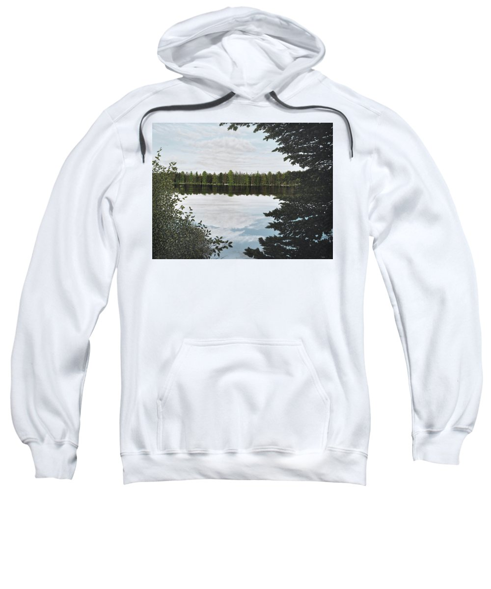 Mcmichael Paintings 2014 Sweatshirt featuring the painting Algonquin Park by Kenneth M Kirsch