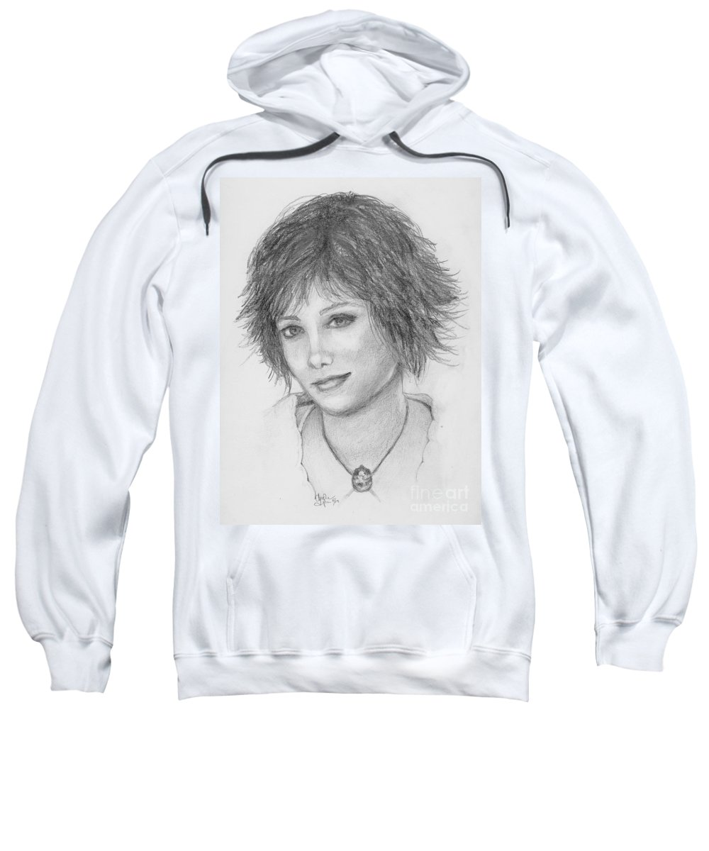 Twilight Sweatshirt featuring the drawing Alice Cullen by Christine Jepsen