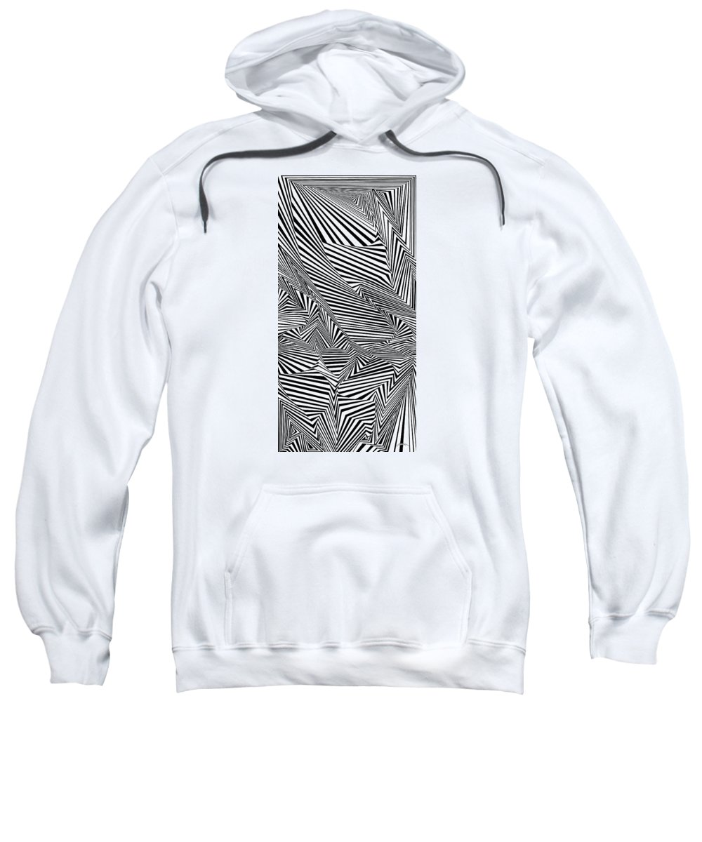 Dynamic Black And White Sweatshirt featuring the painting All In Tents And Purposes by Douglas Christian Larsen