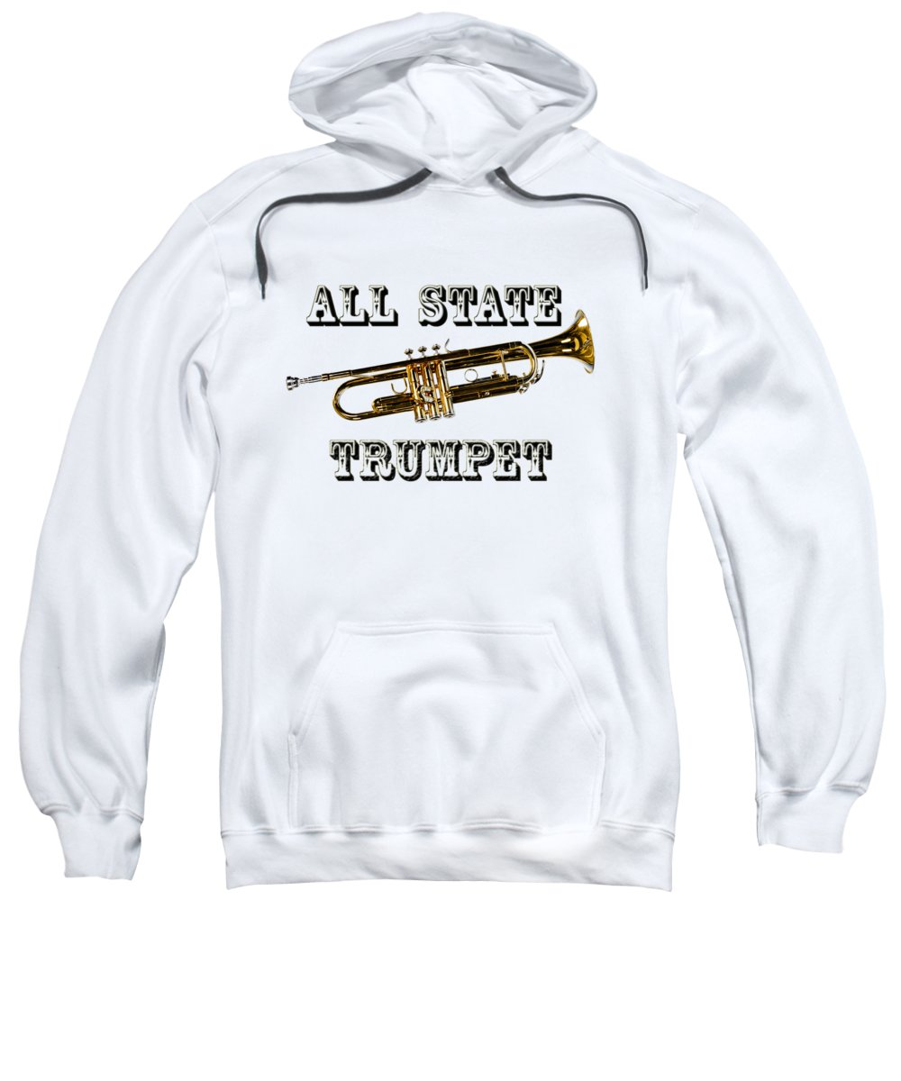 Trumpet Sweatshirt featuring the photograph All State Trumpet by M K Miller