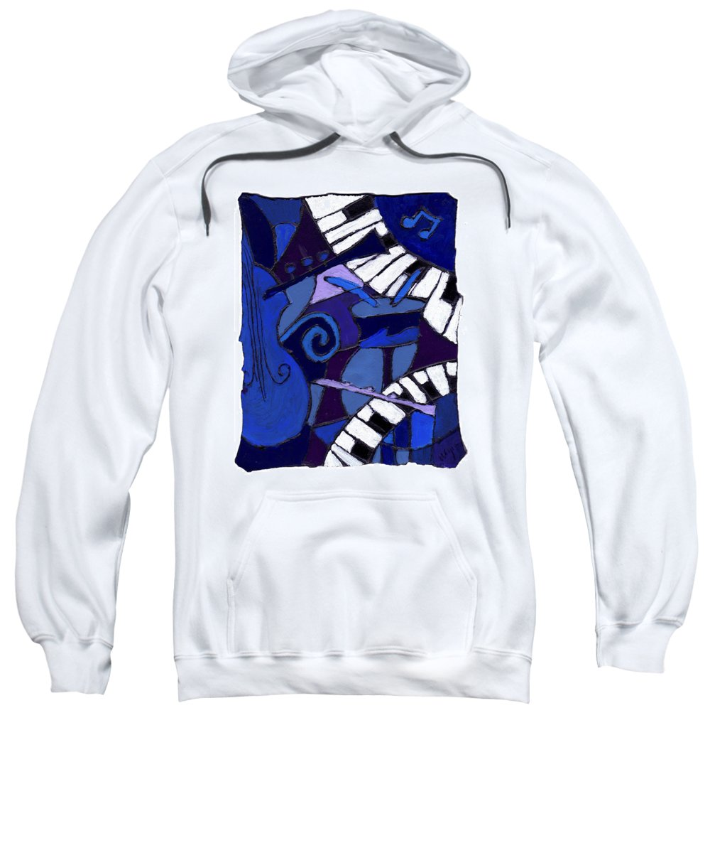 Jazz Sweatshirt featuring the painting All That Jazz 3 by Wayne Potrafka