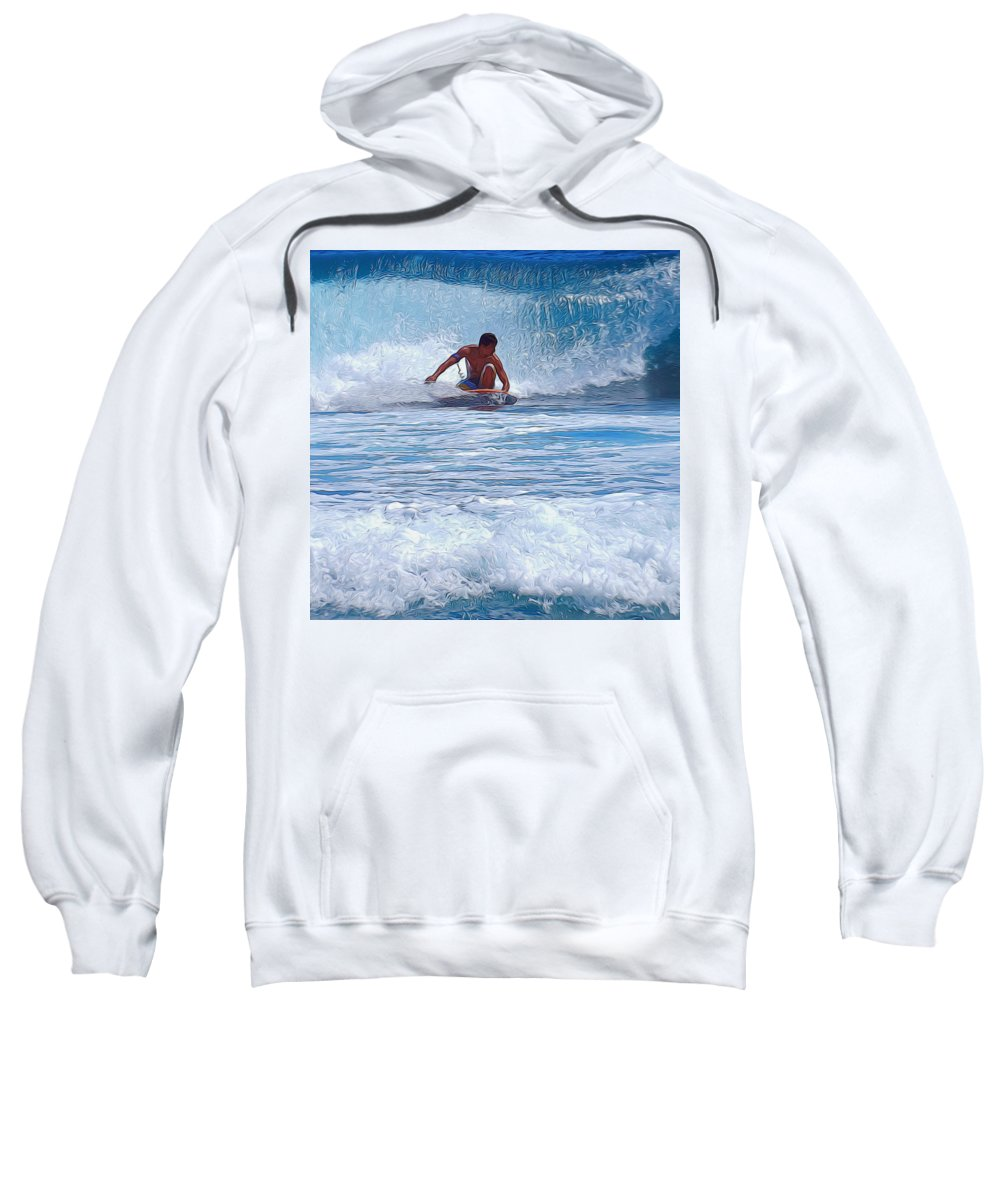 Tunnel Sweatshirt featuring the photograph All The Way To Shore by Pamela Walton