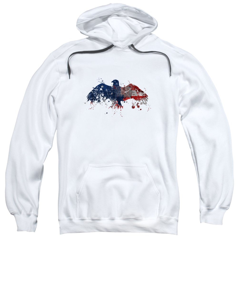 United States Sweatshirt featuring the digital art American Eagle by Mark Ashkenazi