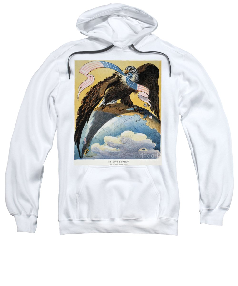 1904 Sweatshirt featuring the photograph American Imperialism, 1904 by Granger