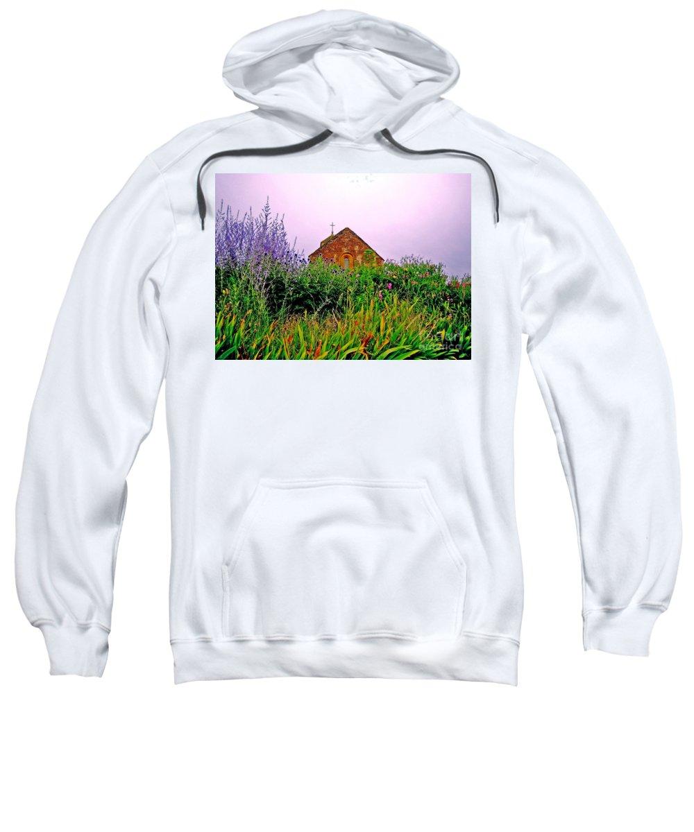 Chapel Sweatshirt featuring the photograph Ameugny 3 by Jeff Barrett