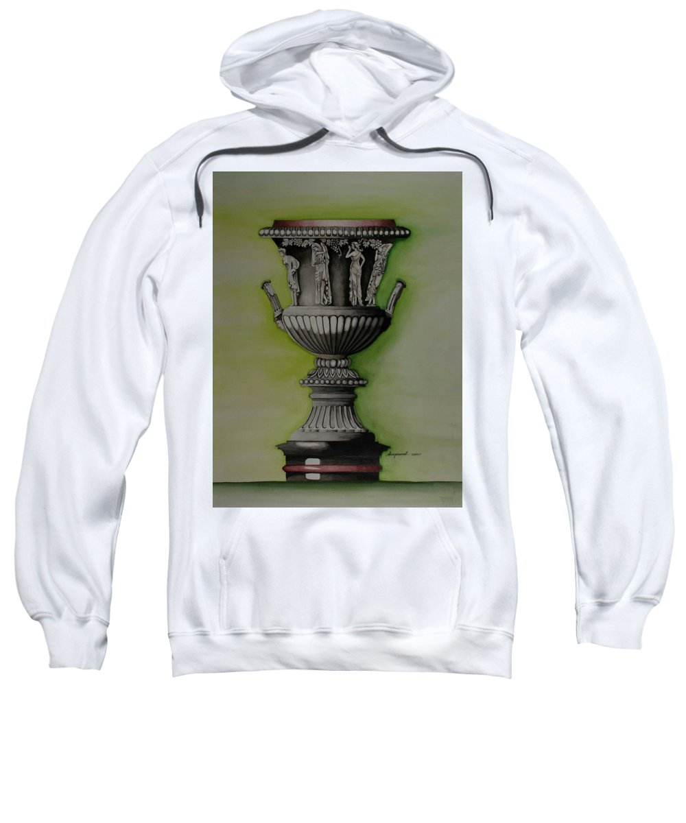 Amphora Sweatshirt featuring the painting Amphora by Olive Pascual