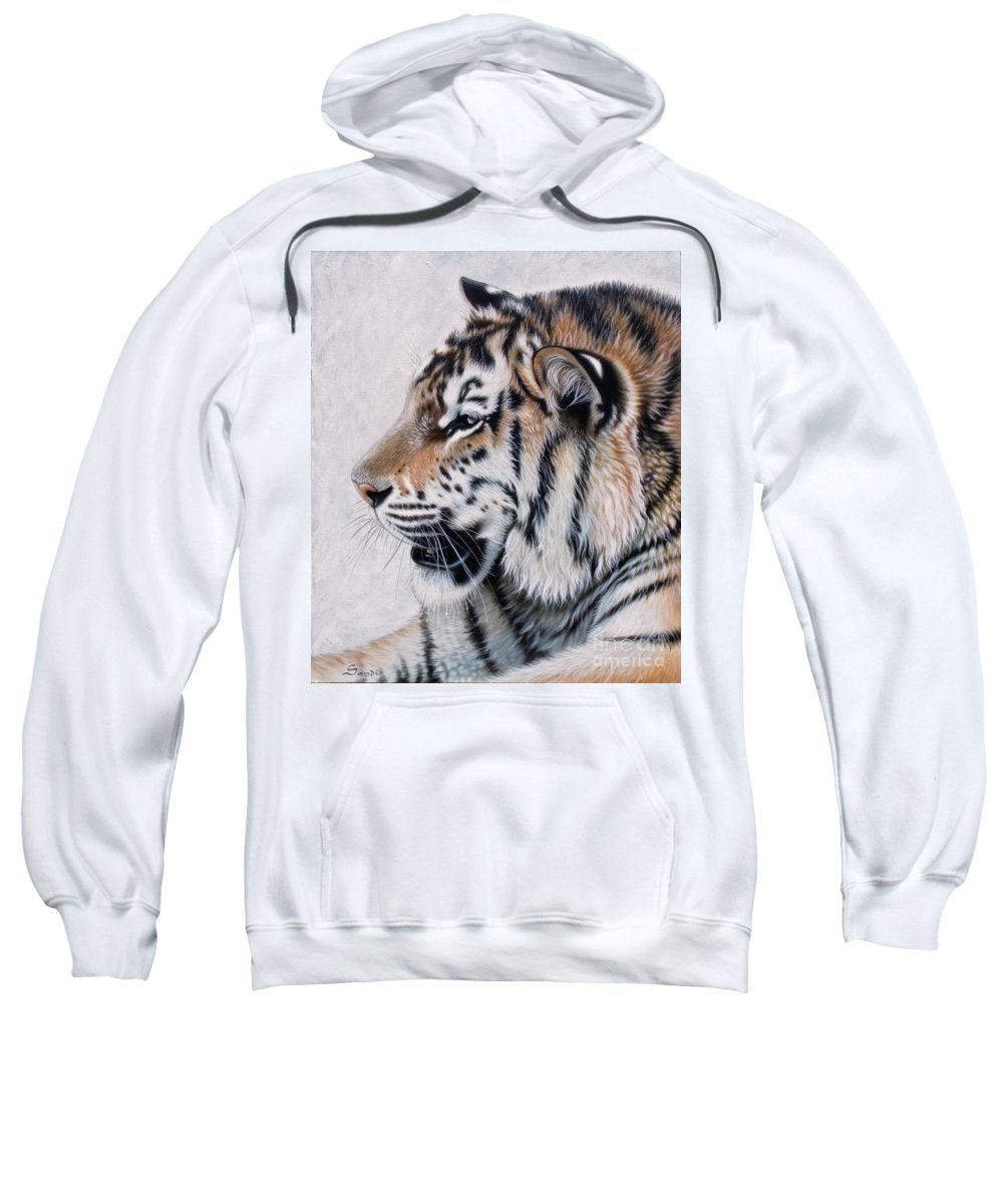 Acrylic Sweatshirt featuring the painting Amur by Sandi Baker