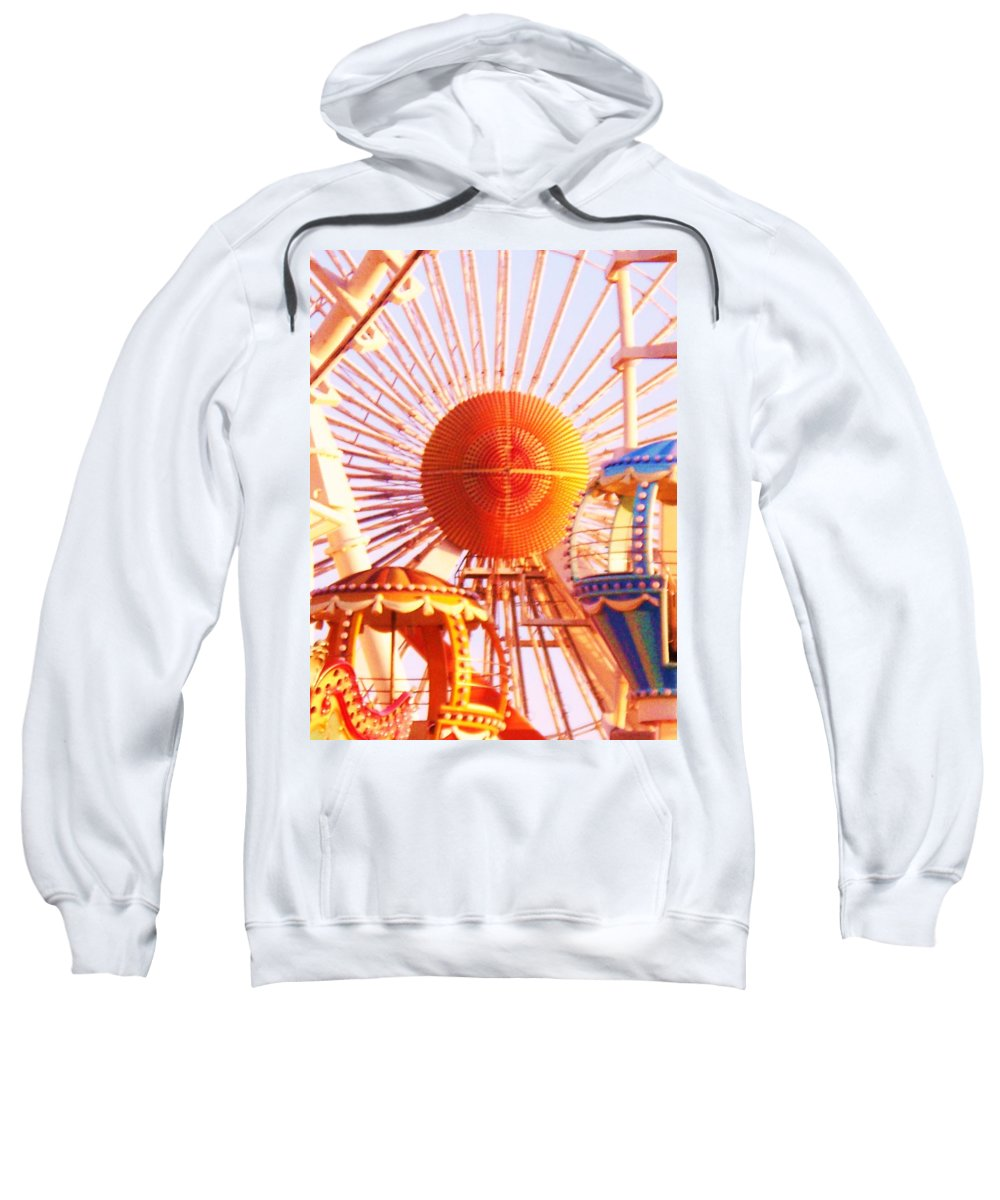 Amusement Sweatshirt featuring the painting Amusement Rides by Eric Schiabor