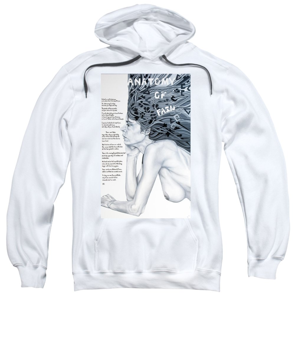 Poetry Sweatshirt featuring the painting Anatomy Of Pain by Judy Henninger