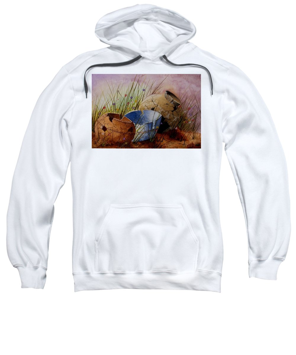 American Sweatshirt featuring the painting Ancient Relics A Paint Along With Jerry Yarnell' Study. by Jimmy Smith