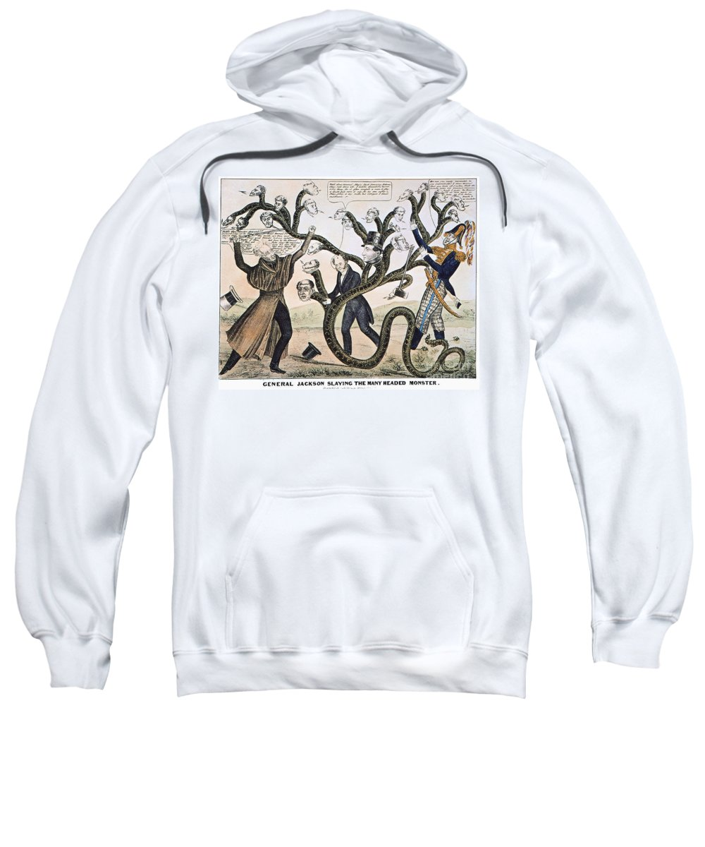 1828 Sweatshirt featuring the photograph Andrew Jackson (1828) by Granger