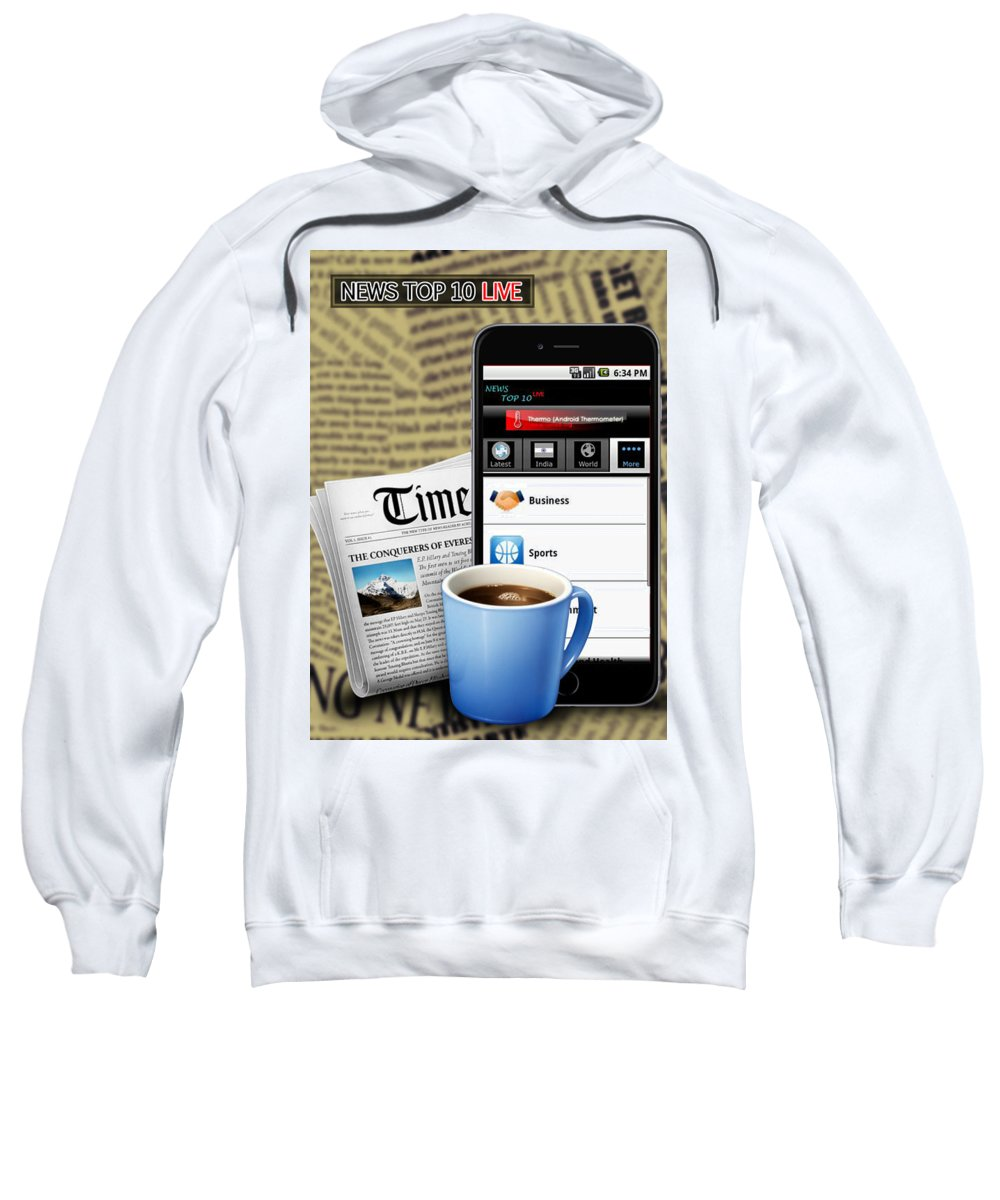 Android Apps Sweatshirt featuring the digital art Android App Development Abu Dhabi by Michaeltim