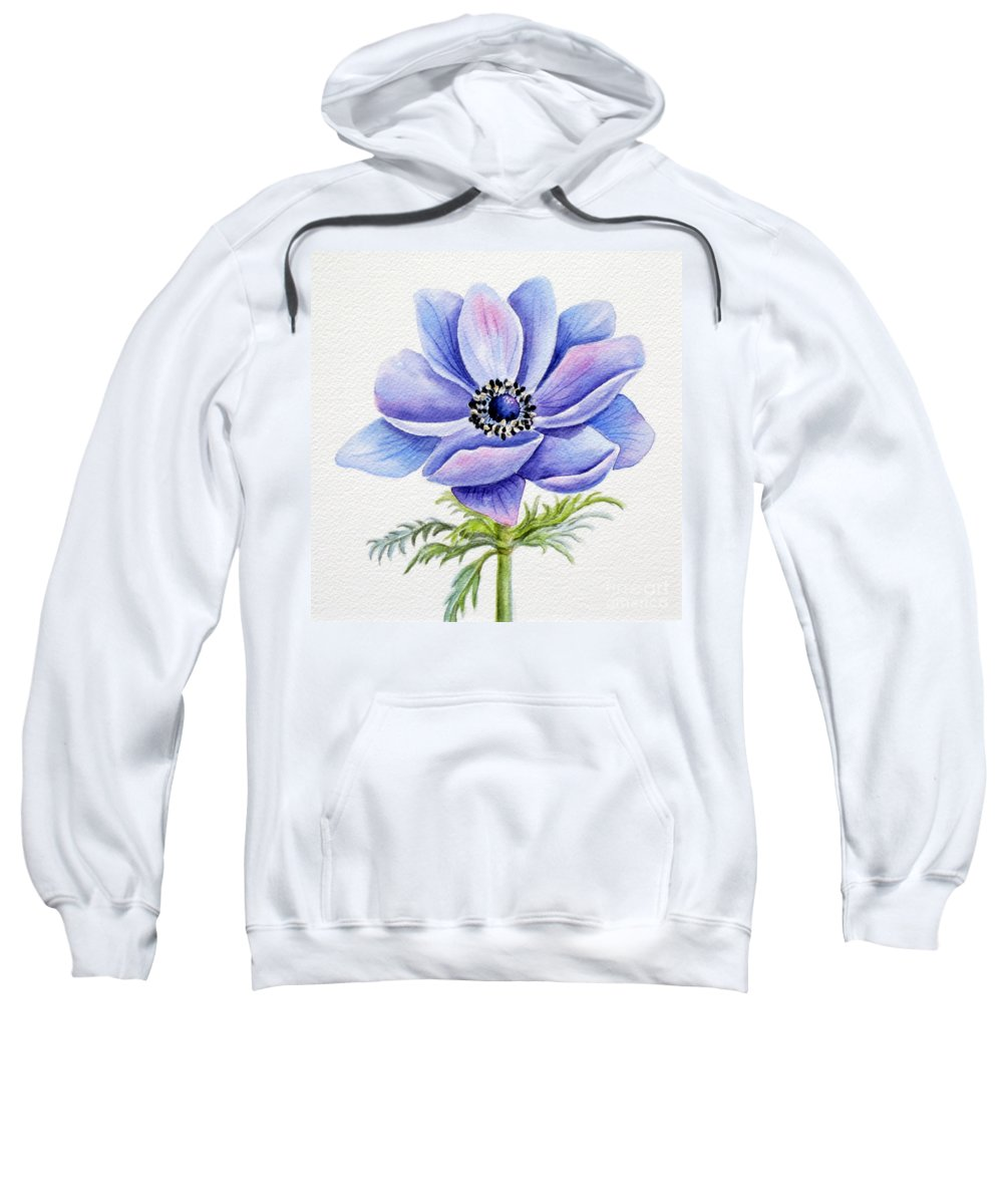 Anemone Sweatshirt featuring the painting Anemone by Deborah Ronglien
