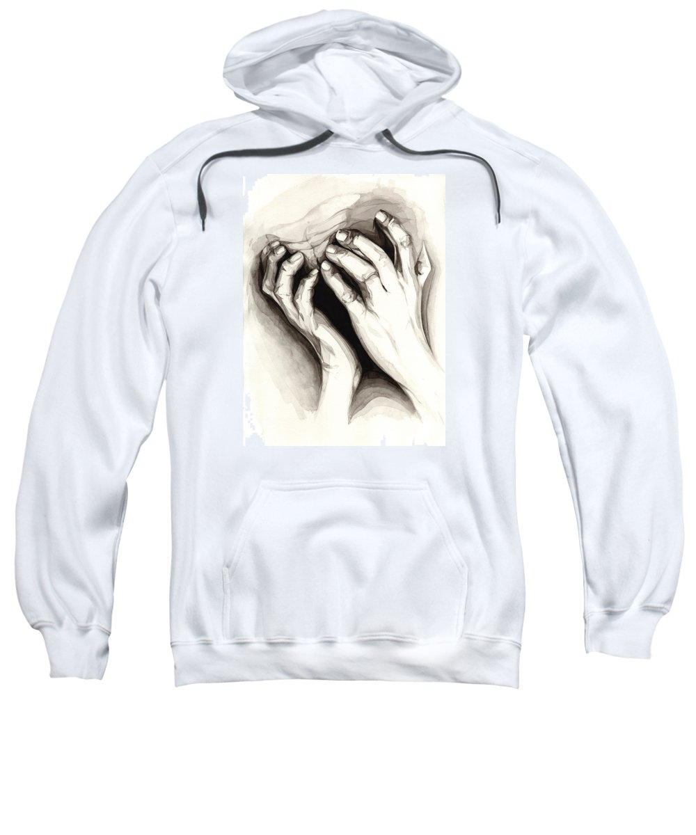 Portrait Sweatshirt featuring the painting Anguish #2 by James Taylor