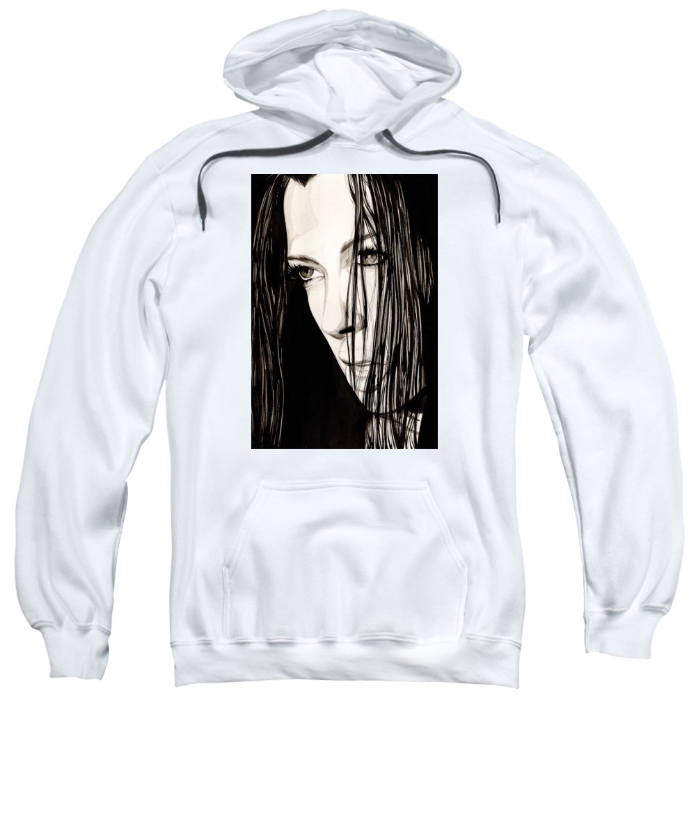 Ink Sweatshirt featuring the painting Anguish #5 by James Taylor