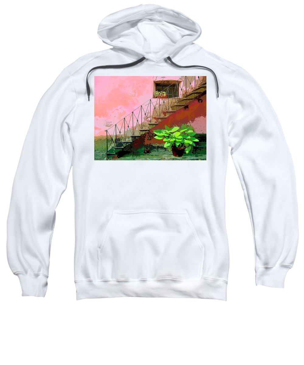 Anticipation Sweatshirt featuring the mixed media Anticipation by Dominic Piperata