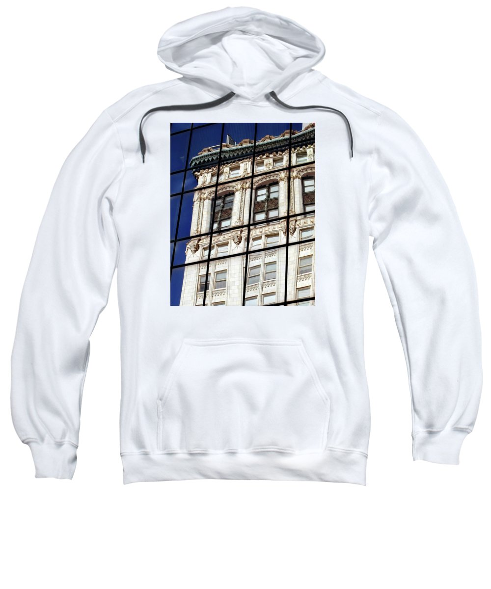Building Sweatshirt featuring the photograph Antique Reflection by Skip Willits
