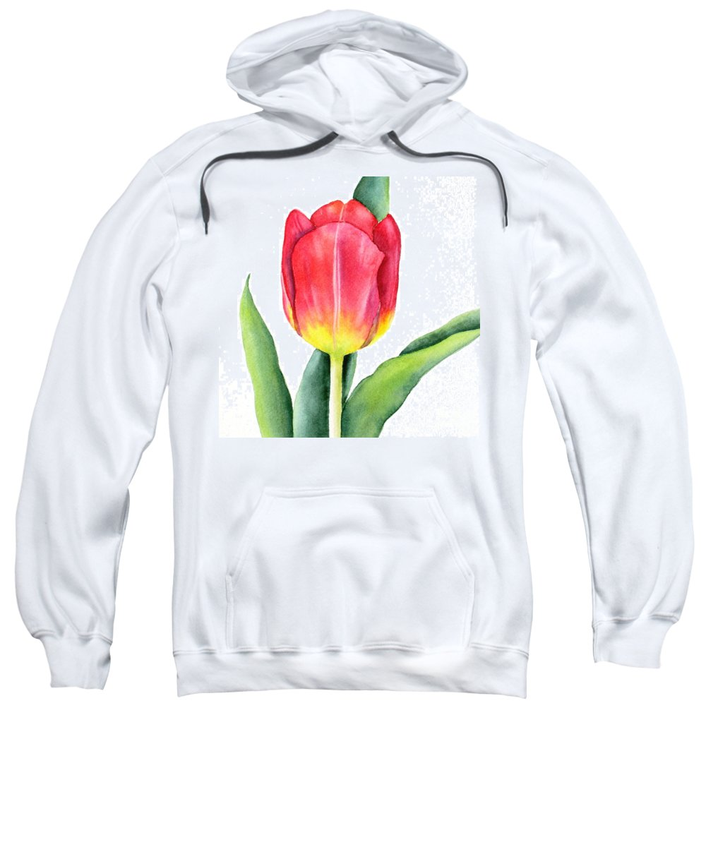 Apeldoorn Sweatshirt featuring the painting Apeldoorn by Deborah Ronglien