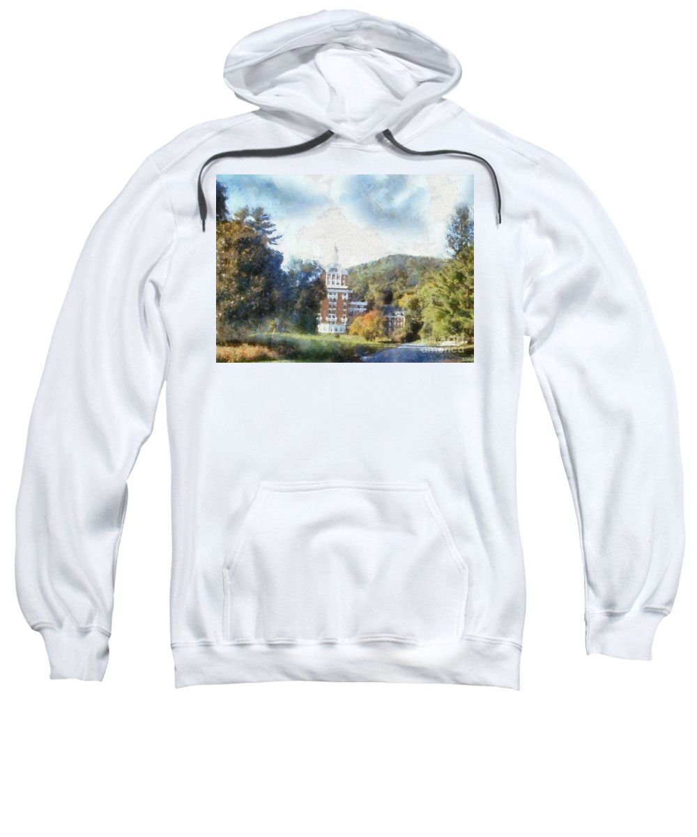 Homestead Sweatshirt featuring the photograph Approaching The Homestead by Paulette B Wright
