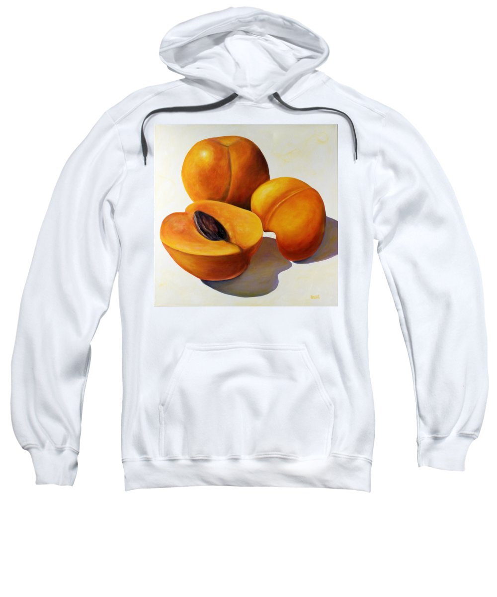 Apricots Sweatshirt featuring the painting Apricots by Shannon Grissom