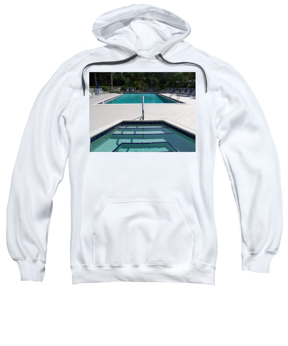 Pool Sweatshirt featuring the photograph Aqua by Laurie Paci